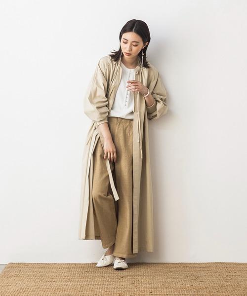 khakito(カーキト)の「綿100% 2WAY サージカルガウン ワンピース(ワンピース)」|グレイッシュベージュ