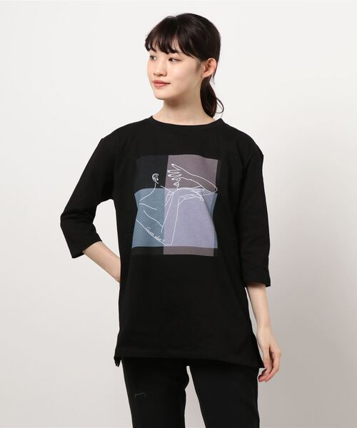 【THE CHIC】グラフィックプリントTシャツ