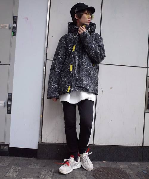 【ビッグシルエット】LIGHT YEAR CAMO HOOD DOWN JKT