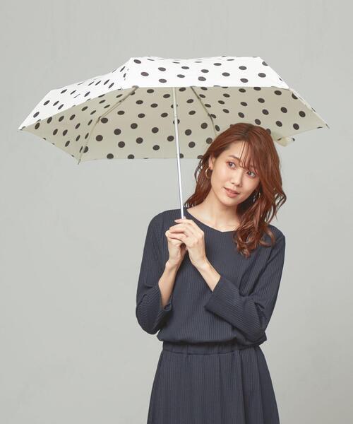 <because> ドットプリント 折りたたみ傘
