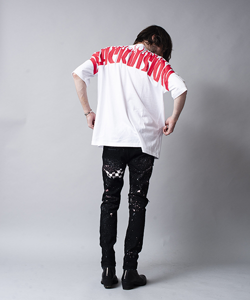 NO ID.(ノーアイディ)の「mt5201-ペイントプリントBIG-T Tシャツ(Tシャツ/カットソー)」|詳細画像