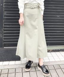 UNRELISH(アンレリッシュ)の裾フレア太ベルトタイトスカート(スカート)