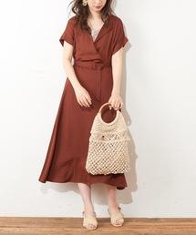 natural couture(ナチュラルクチュール)のカシュクール開襟ワンピース(ワンピース)
