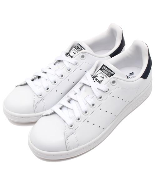 adidas(アディダス)の「adidas アディダス STAN SMITH スタンスミス M20325 R.WHITE/R.WHITE/NEW.NAVY(ホワイト×ネイビー)         (スニーカー)」|ホワイト
