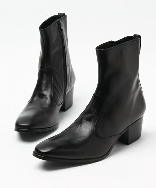 LITHIUM HOMME(リチウム オム)の「SIDE-ZIP HEEL BOOTS(ブーツ)」|詳細画像