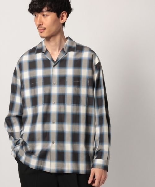 コットンレーヨンオープンカラーガラシャツ/779336