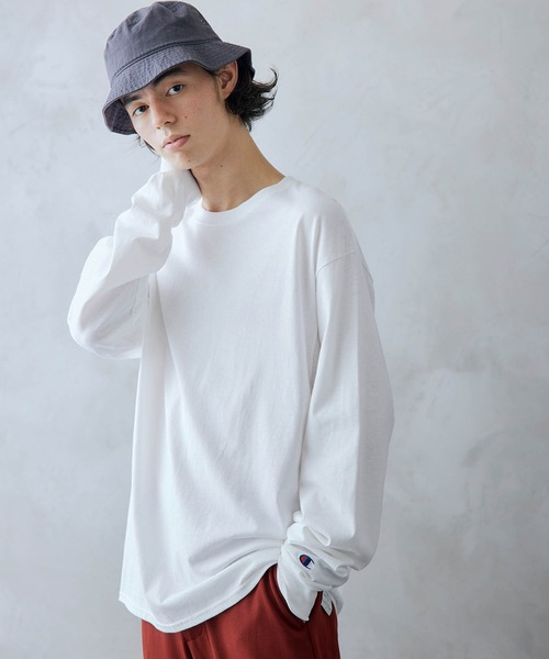 Champion/チャンピオン オーバーサイズ  クルーネック 長袖 Tシャツ