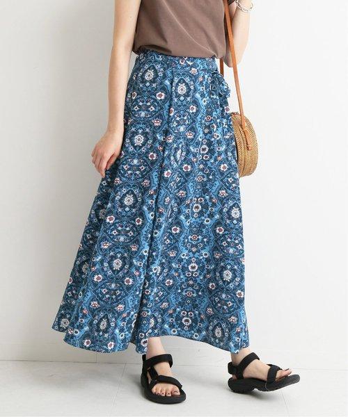 SLOBE IENA(スローブイエナ)の古着「フレアスカート(スカート)」|ブルー