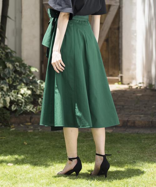 ANAYI(アナイ)の「バイオツイルラップ風スカート(スカート)」|詳細画像