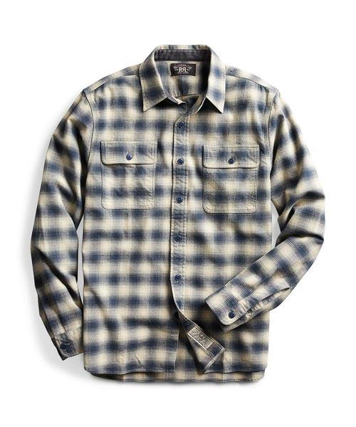 RRL Ralph Lauren(ダブル アールエル)の「プラッド コットンウール ワークシャツ(シャツ/ブラウス)」|ホワイト系1