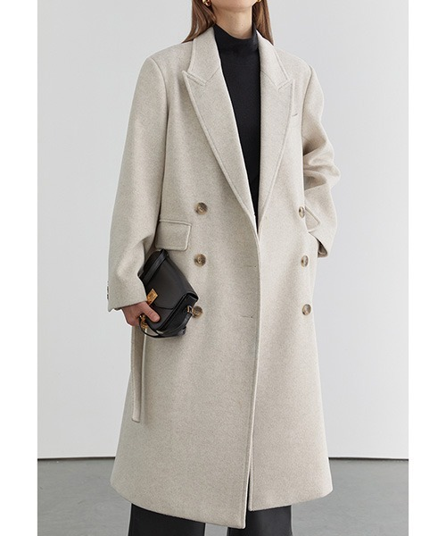 【Fano Studios】【2021AW】Belted double-breasted chester coat FD20D006