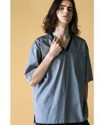 <monkey time>  PIN OX VNECK PULLOVER SHIRT/シャツ ◆