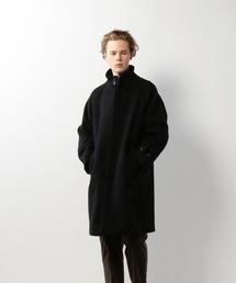<Steven Alan> MELTON STAND BAL COLLAR COAT/コート