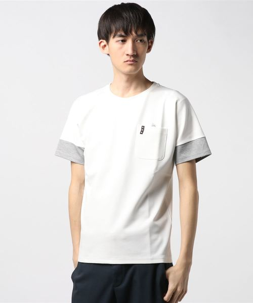 sleeves switching tee crew