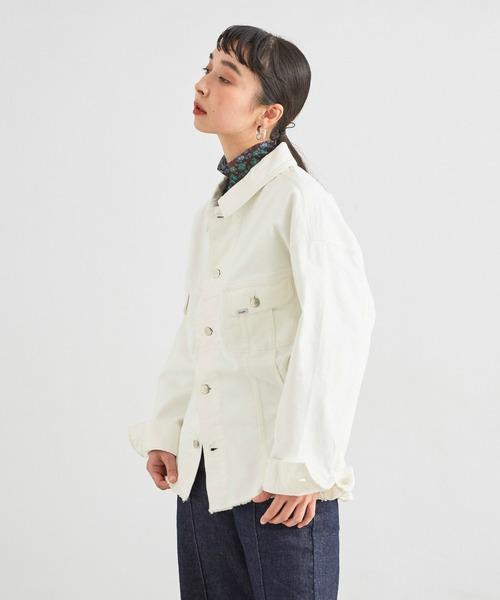 Lee(リー)の「SEASONAL EDITION ウエストマークジャケット(デニムジャケット)」|ホワイト