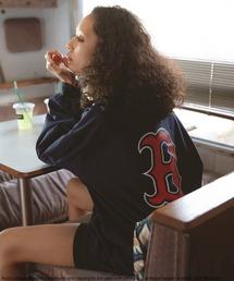 【MLB】バックロゴロングスリーブTシャツネイビー
