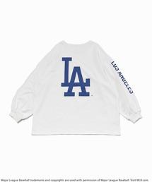 【MLB】バックロゴロングスリーブTシャツオフホワイト