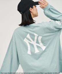 【MLB】バックロゴロングスリーブTシャツグリーン
