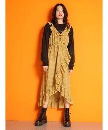 92c0d56b173aa ワンピース(イエロー 黄色系・チェック柄)ファッション通販 - ZOZOTOWN