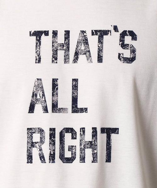 メッセージTシャツ「THAT'S ALL RIGHT!!」