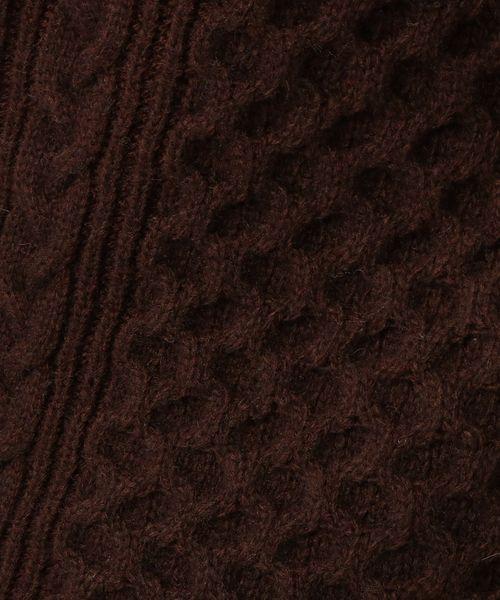 UNTITLED(アンタイトル)の「ウール混ケーブルスリットニット(ニット/セーター)」 詳細画像