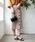 TIENS ecoute(ティアンエクート)の「【セットアップ対応】アシメボタンタイトスカート(スカート)」|ベージュ