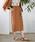 TIENS ecoute(ティアンエクート)の「【セットアップ対応】アシメボタンタイトスカート(スカート)」|キャメル