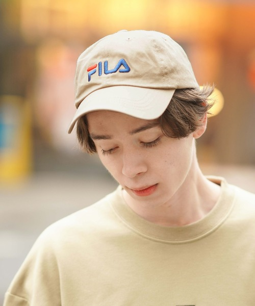 【FILA】FLS 096 LINEAR LOGO LOW CAP