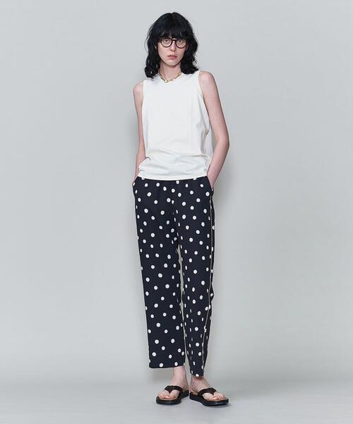 <6(ROKU)>DOT PRINT PANTS/パンツ