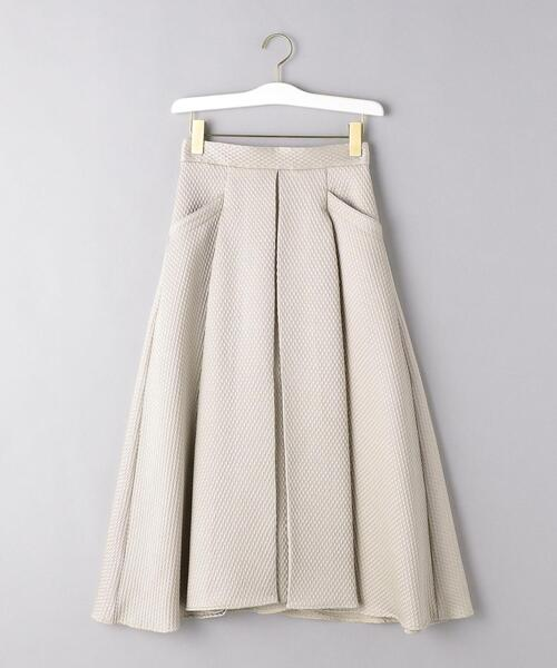 <VONDEL(フォンデル)>キルティング タック スカート
