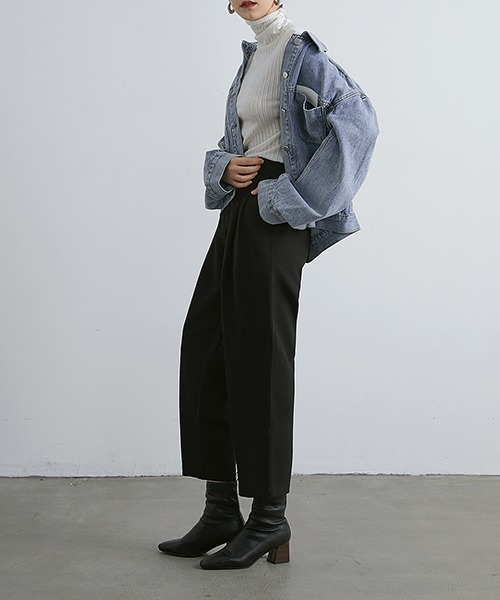 【chuclla】【2021/AW】Waist belt cropped tapered pants chw21a068