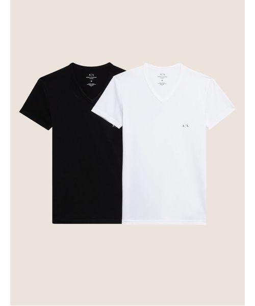 various colors dbac6 55c9c 【A|Xアルマーニ エクスチェンジ】2PACK 半袖VネックTシャツ