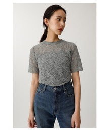 4c26dc2588888 MOUSSY(マウジー)の「STRETCH LACE H N TEE(Tシャツ