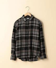 【2WAY】コットンリネンウールチェックシャツ