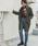 URBAN RESEARCH DOORS(アーバンリサーチドアーズ)の「リバーシブルフェイクムートンコート(ムートンコート)」|チャコールグレー