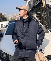 SPADE(スペイド)の「【neos -sellect design-】ボリュームネック 変形 中綿 ジャケット(ミリタリージャケット)」