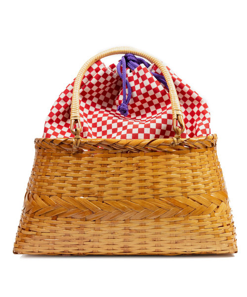 KYOETSU(キョウエツ)の「「KYOETSU/キョウエツ」バッグ かごバッグ 浴衣 kg-10(和装小物)」|レッド系その他5