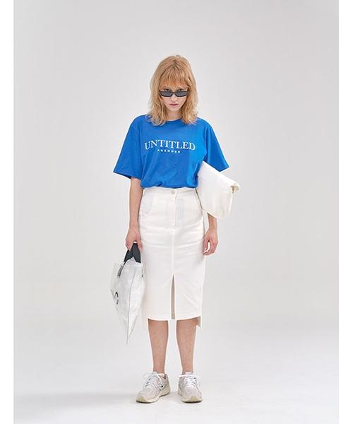 【AGENDER】UNTITLED レタリングTシャツ