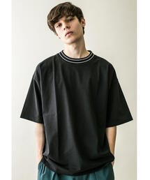 <monkey time> TENJIKU LINE MOCK TEE/モックネックTシャツ