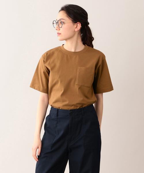 【ウォッシャブル】度詰天竺ポケTシャツ