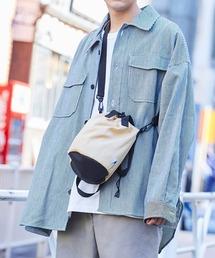 KANGOL/カンゴール MONO-MART別注 ショルダーバッグ 巾着バッグベージュ