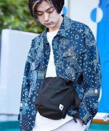 KANGOL/カンゴール MONO-MART別注 ショルダーバッグ 巾着バッグブラック