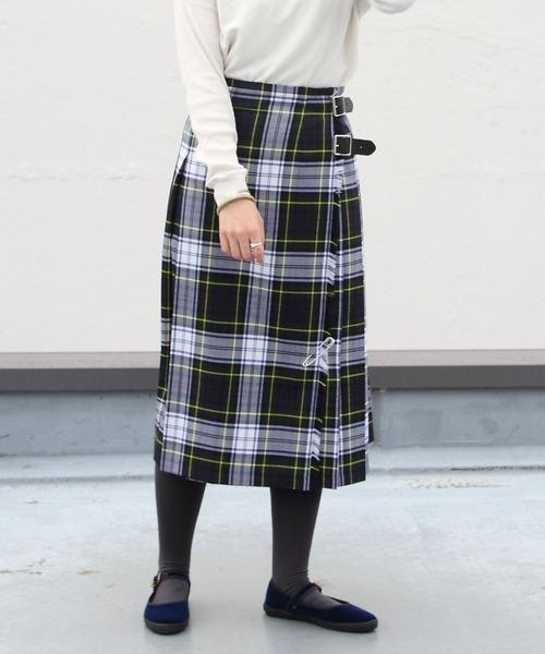 O'NEIL of DUBLIN/オニールオブダブリン タータンミドルニットスカート TARTAN MIDDLE KILT #12477