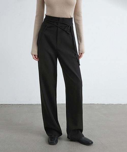 【chuclla】【2021/AW】Lace up waist pants chw21a070