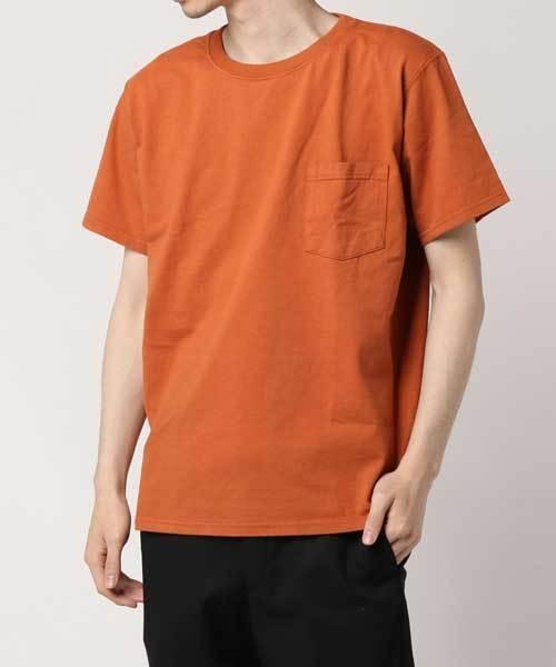 Goodwear(グッドウェア)の「S/S POCKET TEE /ショートスリーブ ポケットT(Tシャツ/カットソー)」|オレンジ系その他