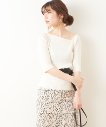 natural couture(ナチュラルクチュール)のワンショル風ネックプルオーバー(ニット/セーター)