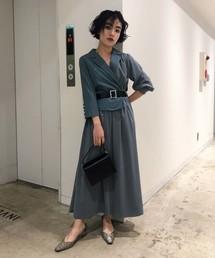 AMERI(アメリヴィンテージ)のTRINITY JKT DRESS(ワンピース)