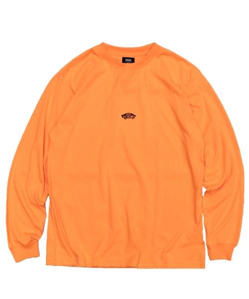 VANS(バンズ)の「VANS / ヴァンズ 】SK8OTW NEON COLOR LS TEE(Tシャツ/カットソー)」|オレンジ
