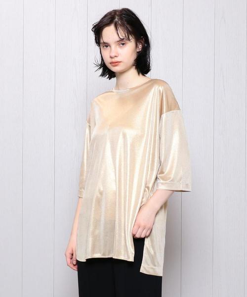 <H>LAME BIG T-SHIRT/Tシャツ