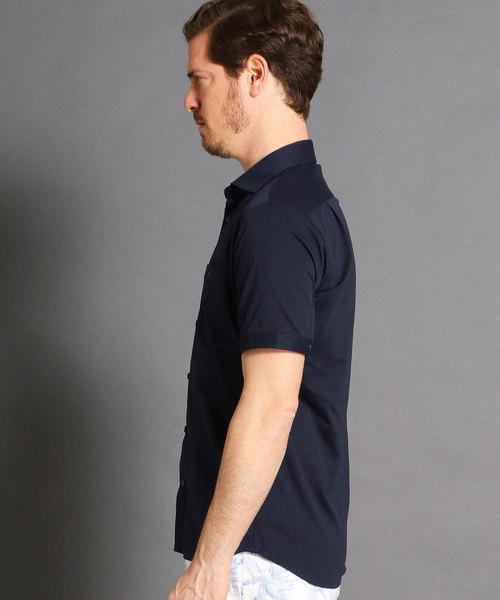 MONSIEUR NICOLE(ムッシュニコル)の「ショートカッタウェイカラー半袖シャツ(シャツ/ブラウス)」 詳細画像